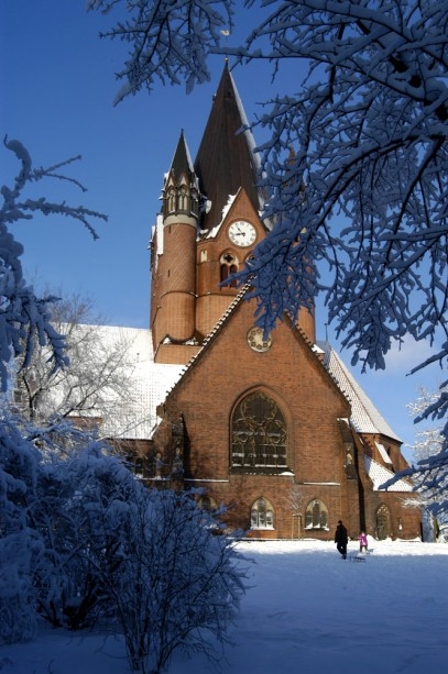 Pauluskirche im Winter
