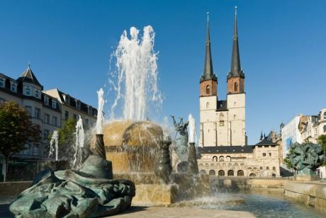 Göbelbrunnen am Hallmarkt