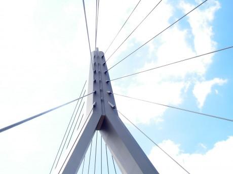 Berliner Brücke im Spinnennetz