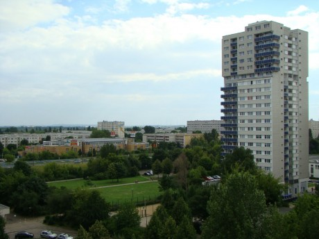Blick über Halle-Neustadt